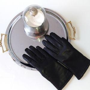 Accessories - Lamb Leather black ladies gloves L/Xl